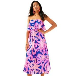 Lilly Pulitzer Meridian Midi Dress, Size M NWT